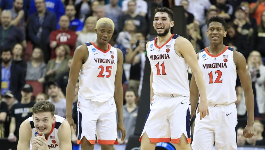 2019 Virginia Cavaliers Men's Basketball team celebrates trip to the Final Four in Minnesota.